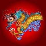 Illustrazione dell'icona del drago  illustrazione vettoriale