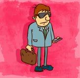 Illustrazione dell'icona dell'avvocato del fumetto, icona di vettore Immagini Stock