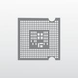 Illustrazione dell'icona dell'unità di elaborazione Fotografia Stock