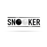 Illustrazione dell'icona dello snooker Fotografia Stock