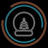 Illustrazione dell'icona di vettore dell'albero di Natale della palla della neve royalty illustrazione gratis