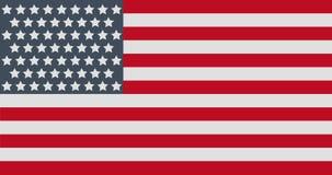 Illustrazione dell'icona di vettore della bandiera americana, progettazione piana Etichetta ufficiale degli Stati Uniti d'America immagine stock