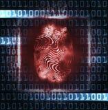 Illustrazione dell'impronta digitale e delle cifre Fotografie Stock Libere da Diritti