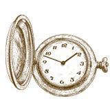 Illustrazione dell'incisione dell'orologio da tasca Fotografia Stock Libera da Diritti