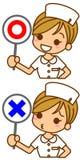 Illustrazione dell'infermiera Fotografia Stock Libera da Diritti