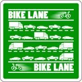 Illustrazione dell'ingorgo stradale del vicolo della bici illustrazione vettoriale