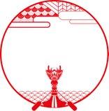 Illustrazione dell'insegna della barca del drago Immagini Stock Libere da Diritti