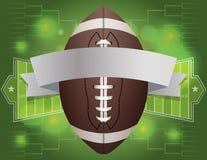 Illustrazione dell'insegna di football americano Fotografie Stock Libere da Diritti