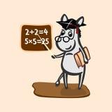 Illustrazione dell'insegnante dell'asino Immagini Stock Libere da Diritti