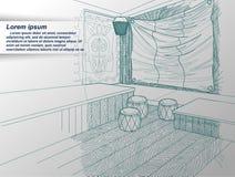 Illustrazione dell'interiore illustrazione vettoriale
