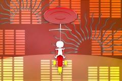 illustrazione dell'obiettivo del robot dell'uomo 3D Immagini Stock Libere da Diritti