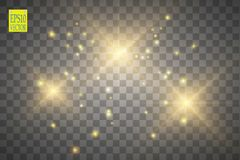 Illustrazione dell'onda di scintillio dell'oro di vettore Particelle scintillanti della traccia della polvere di stella d'oro iso royalty illustrazione gratis