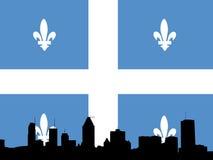 Illustrazione dell'orizzonte di Montreal illustrazione di stock