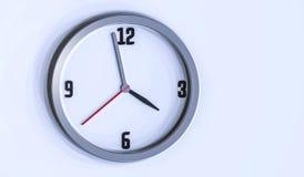 Illustrazione dell'orologio di parete 3d su fondo bianco Fotografia Stock Libera da Diritti