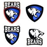 Illustrazione dell'orso bianco Orsi, club di sport o emblema arrabbiato del gruppo illustrazione vettoriale