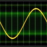 Illustrazione dell'oscilloscopio dell'onda di struttura 2D Fotografia Stock Libera da Diritti