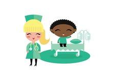 Illustrazione dell'ospedale del bambino del bambino Fotografia Stock
