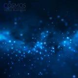 Illustrazione dell'universo di vettore con le stelle e la galassia Fotografia Stock Libera da Diritti