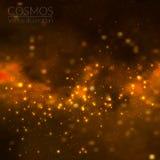 Illustrazione dell'universo di vettore con le stelle e la galassia Fotografie Stock Libere da Diritti