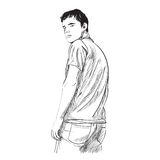 Illustrazione dell'uomo Fotografia Stock Libera da Diritti