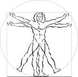 Illustrazione dell'uomo di Vitruvian Fotografia Stock Libera da Diritti