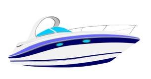 Illustrazione dell'yacht immagine stock