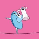 Illustrazione della ballerina della mucca Fotografia Stock