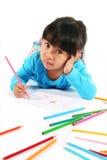 Illustrazione della bambina Fotografie Stock
