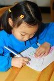 Illustrazione della bambina immagine stock