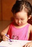 Illustrazione della bambina Immagini Stock Libere da Diritti