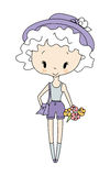 Illustrazione della bambola della bambina di vettore Fotografia Stock