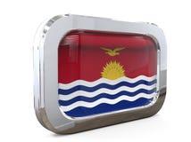 Illustrazione della bandiera 3D del bottone del Kiribati Fotografia Stock