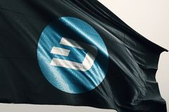 Illustrazione della bandiera 3d di cryptocurrency del UN POCO royalty illustrazione gratis