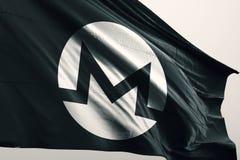 Illustrazione della bandiera 3d di Monero XMR illustrazione vettoriale