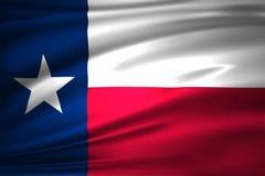 Illustrazione della bandiera del Texas illustrazione vettoriale