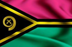 Illustrazione della bandiera del Vanuatu royalty illustrazione gratis