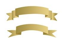 Illustrazione della bandiera dell'oro Immagini Stock