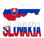 Illustrazione della bandiera e del testo della mappa della Slovacchia Fotografia Stock Libera da Diritti