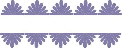 Illustrazione della bandiera, elemento decorato. Immagine Stock