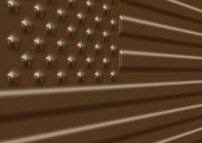 Illustrazione della bandierina degli S.U.A. del cioccolato Fotografie Stock Libere da Diritti
