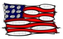 Illustrazione della bandierina della racchetta di tennis Fotografie Stock Libere da Diritti