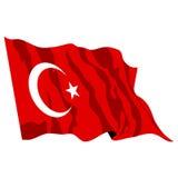 Illustrazione della bandierina della Turchia Fotografie Stock Libere da Diritti
