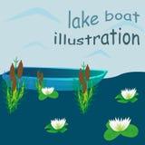 Illustrazione della barca del lago Fotografia Stock Libera da Diritti