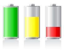 Illustrazione della batteria della tassa delle icone illustrazione vettoriale