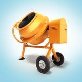 Illustrazione della betoniera 3D sulla pendenza Fotografie Stock Libere da Diritti