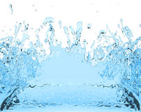 Illustrazione della bevanda 3D del succo della spruzzata dell'acqua blu Immagini Stock Libere da Diritti