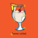 Illustrazione della bevanda di estate Fotografie Stock