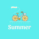 Illustrazione della bici Immagini Stock Libere da Diritti