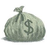 Illustrazione della borsa dei soldi Fotografia Stock