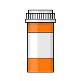 Illustrazione della bottiglia di pillola Fotografie Stock Libere da Diritti